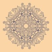 Ornamental round seamless lace pattern — Stock Vector
