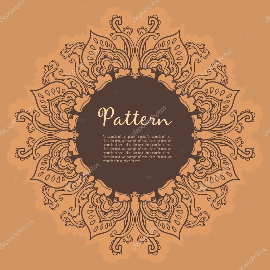 depositphotos 12170988 Ornamental round floral lace pattern. kaleidoscopic floral pattern mandala 17 Incroyable Brico Depot Facade Cuisine Hht5