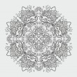 Ornamental round gray snowflake. lace pattern. - Stock Vector