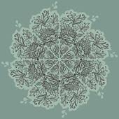 Patrón de encaje floral redondo ornamentales. patrón floral caleidoscópica, mandala. — Vector de stock