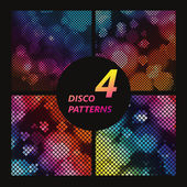 Bright disco background with colored squares. Vector Graphics — Stock Vector