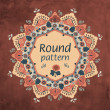 Royalty-Free Stock Imagem Vetorial: Round floral lace pattern. cute and lovely autumn decoration. Ornamental round seamless lace pattern