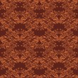 Seamless floral pattern. Royal wallpaper. Flowers on a brown  background. — Image vectorielle