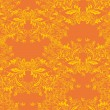 Seamless floral pattern. Royal wallpaper. Flowers on a orange  background. - Stock Vector