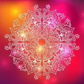 Süs çiçek dantel modeli. sürekli değişen gökkuşağı çiçek desenli, mandala. — Stok fotoğraf