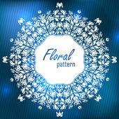 Ornamental floral lace pattern. kaleidoscopic snow floral pattern, mandala. — Stock Photo