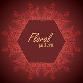 Tarjeta de regalo. marco flores. fondo de vector de encaje — Vector de stock