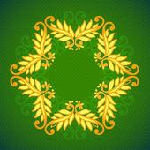 Ornamental floral lace pattern. kaleidoscopic floral pattern — Stock Photo