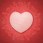 Gift Card. Valentine's day. Happy Valentine's Day frame. Valentine Day vector background — Stock Photo
