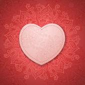 Gift Card. Valentine's day. Happy Valentine's Day frame. Valentine Day vector background — Stock Photo