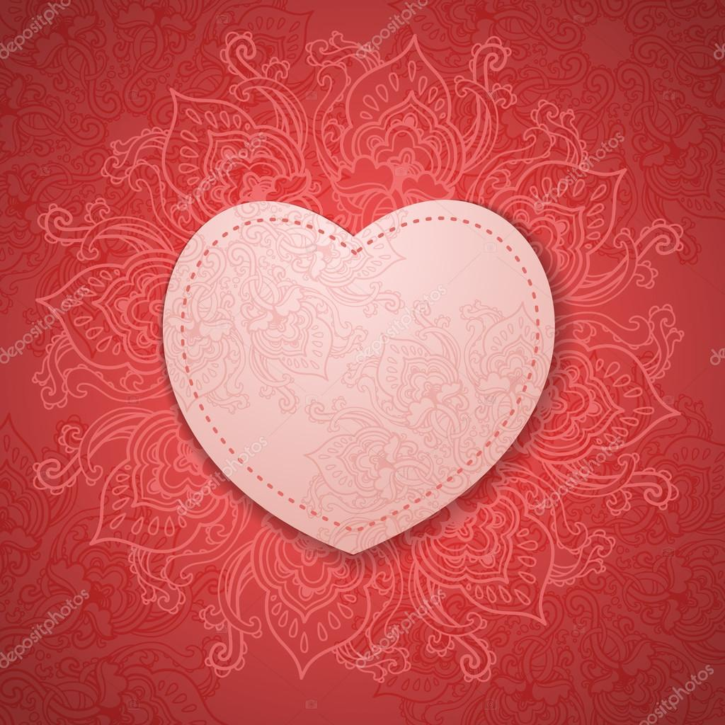 Gift Card. Valentine's day. Happy Valentine's Day frame. Valentine Day vector background — Stock Photo #19696175