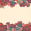 Royalty-Free Stock Imagem Vetorial: Floral abstract background. stylized plants and leaves