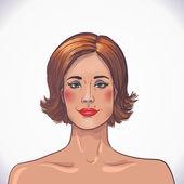 Brunetka piękna kobieta. pielęgnacja twarzy i ciała — Wektor stockowy