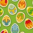 Wonderful ornamental eggs for Easter. Easter card SEAMLESS PATTERN — Stock Vector