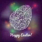 Huevo flores ornamental maravilloso para la pascua. tarjeta de felicitación de pascua — Vector de stock