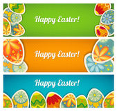 Banner set. Easter cards with a place for your text — Stock Vector