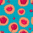 Collection of various  Candies from Candy Store. seamless pattern — Stock Photo
