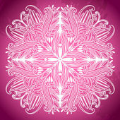 Ornamental round lace pattern. Ornamental floral lace pattern. kaleidoscopic rainbow floral pattern — Stock Vector