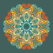 Ornamental floral lace pattern. kaleidoscopic floral pattern. greeting card — Stock Vector