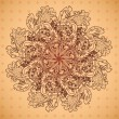 Ornamental round floral lace pattern. Lovely floral pattern, mandala. — Stock Vector