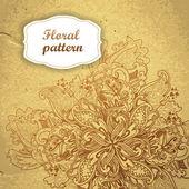 Ornement rond point ajouré floral. motif floral de papier, mandala. — Vecteur