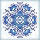 Ornamental round floral lace pattern. kaleidoscopic floral pattern, mandala. — Stock Vector