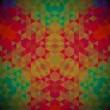 motif foncé géométrique de Kaléidoscope. abstrait vector rétro. carte de voeux — Vecteur