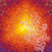 Kaleidoscope geometric dark pattern. Abstract vector background. Greeting card — Stock Vector
