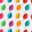 Autumn abstract vector seamless pattern. simple shapes and bright colors for the fabric,  web,  print. rainbow colors and polka dot pattern will make fun of you — Stock Vector
