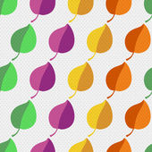 Autumn abstract vector seamless pattern. simple shapes and bright colors for the fabric, web, print. rainbow colors and polka dot pattern will make fun of you — 图库矢量图片