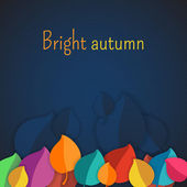 Autumn abstract vector background. simple shapes and bright colors for the fabric, web, print. rainbow colors will make fun of you — ストックベクタ