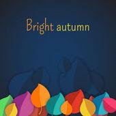 Podzimní abstraktní vektorové pozadí. jednoduché tvary a jasné barvy pro tkaniny, web, tisk. duhové barvy budou dělat si legraci z vás — Stock vektor