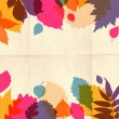 Paper autumn leaves background in retro colors. — Stock Photo #31846991