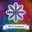 Stockvektor : Snowflake winter color background, christmas geometric pattern.