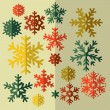 Set of decorative Christmas snowflake in vector — Stock Vector #37020619