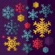 Set of decorative Christmas snowflake in vector — Stock Vector #37020625