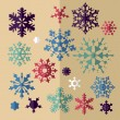 Set of decorative Christmas snowflake in vector — Stock Vector #37020627