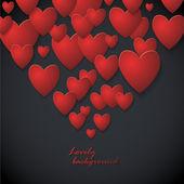 White Heart Paper Stickers Valentine's day. Happy Valentine's day! — Stock Vector