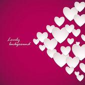 White Heart Paper Stickers Valentine's day. Happy Valentine's day! — Vettoriale Stock