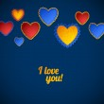 Color Heart Paper Stickers Valentine's day — Stockvektor