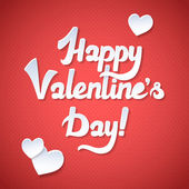 Happy Valentine's Day Card and Pink Background. Happy Valentines day card with trendy elegant script type — Wektor stockowy