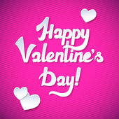 Happy Valentine's Day Card and Pink Background. Happy Valentines day card with trendy elegant script type — Vettoriale Stock