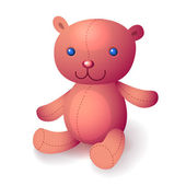 Illustration of Teddy pink bear — Stock Vector
