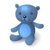 Illustration of blue teddy bear — Stock Vector
