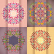 Colorful decorative round background pack — Stock Vector
