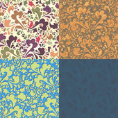 Seamless pattern of colored curls. excellent floral background — Stock Vector