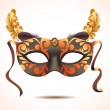 Carnival mask with feathers vector illustrations — Stock Vector #39932303