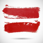 Brushstroke banner. Ink watercolor spot background. — Stock Vector