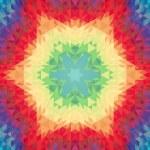 Abstract raster polygonal ornamental background. — Stock Photo