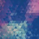 Winter retro triangle pattern. Retro raster illustration — Stock Photo